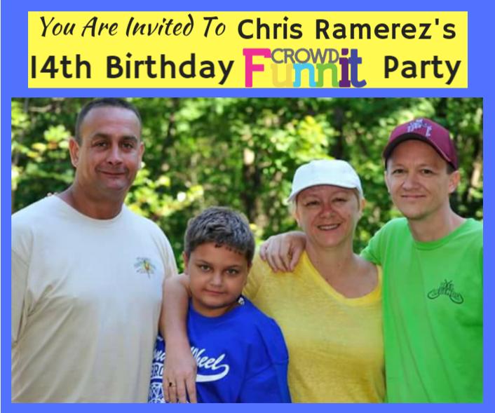 Chris Ramirezs 14th Birthday Invitation Cherab